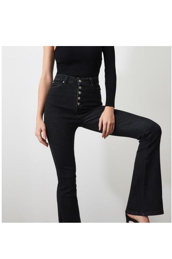 خرید شلوار جین زنانه ترک جدید برند ترندیول میلا ترک رنگ مشکی کد ty34470385