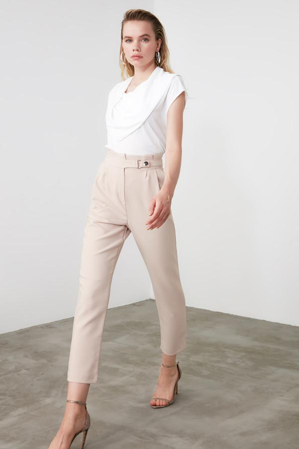 فروش پستی شلوار زنانه شیک جدید مارک ترندیول میلا رنگ نقره ای کد ty34492254