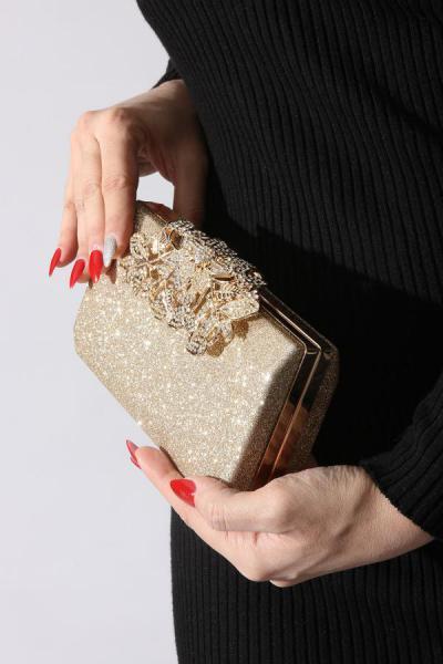 فروش نقدی کیف مجلسی زنانه خاص برند ROVIGO رنگ طلایی ty34551460