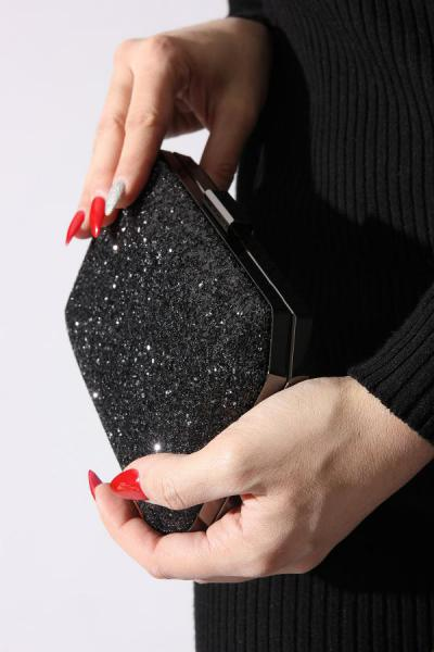کیف مجلسی زنانه ترک جدید برند ROVIGO رنگ مشکی کد ty34551463