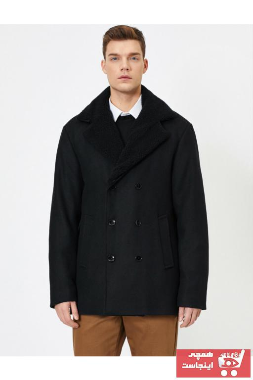 خرید انلاین پالتو زیبا مردانه برند کوتون رنگ مشکی کد ty34579057