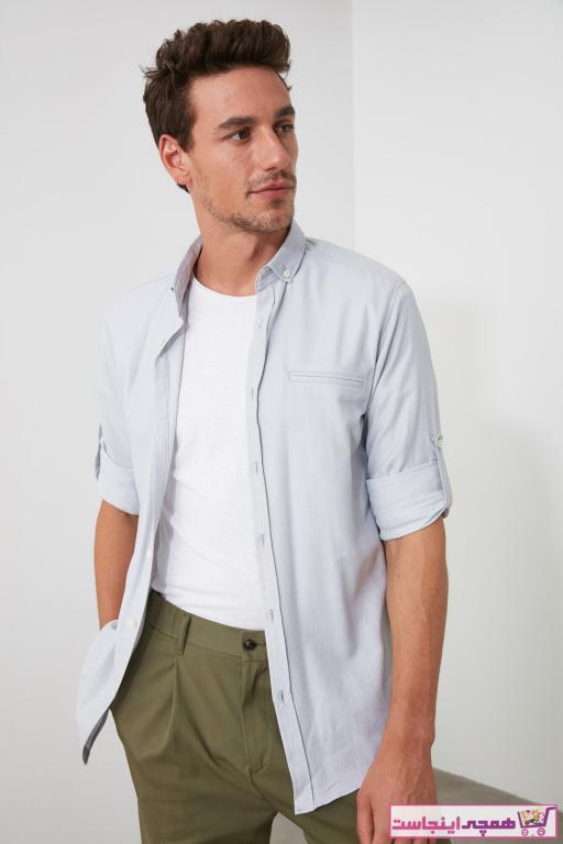خرید مدل پیراهن مردانه مارک ترندیول مرد رنگ نقره ای کد ty34615622