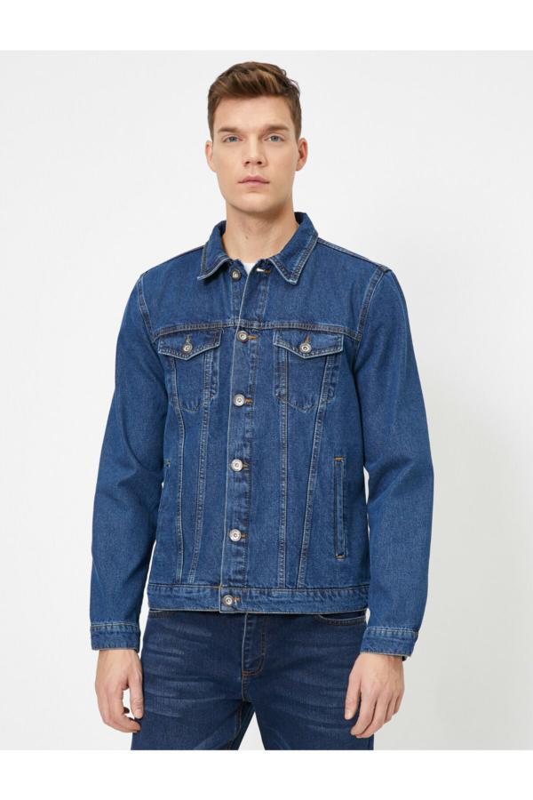ژاکت مردانه ارزان قیمت برند کوتون رنگ لاجوردی کد ty34757731