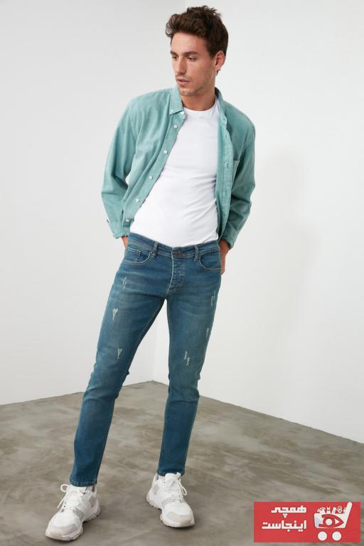 خرید شلوار جین غیرحضوری برند ترندیول مرد رنگ لاجوردی کد ty34762609
