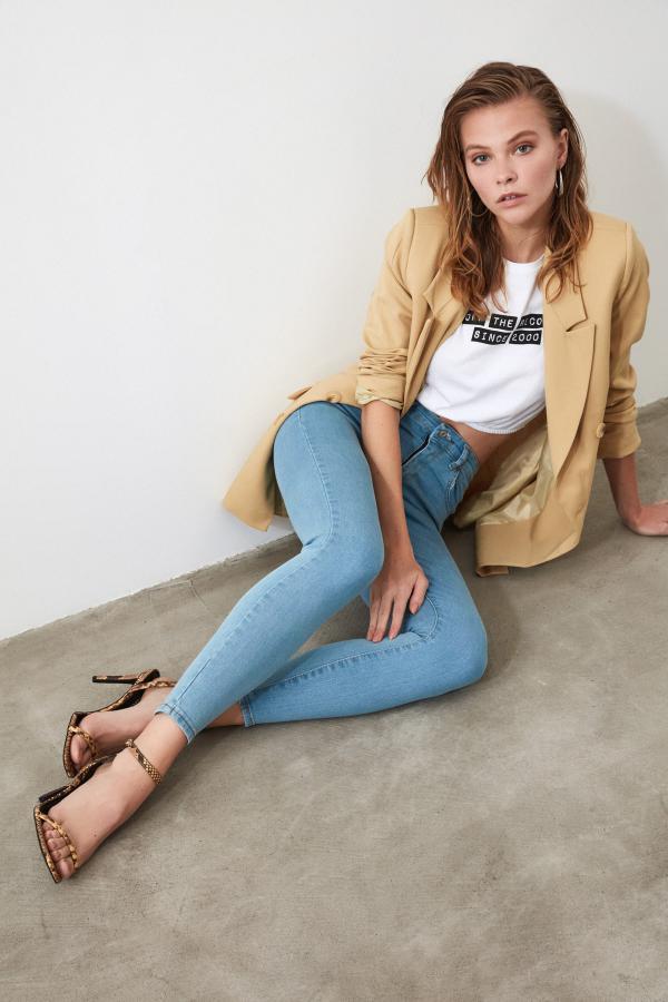 شلوار جین زنانه شیک مارک ترندیول میلا رنگ آبی کد ty34763498