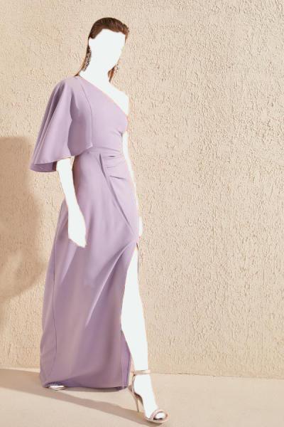لباس مجلسی زنانه طرح دار مارک ترندیول میلا رنگ بنفش کد ty34856208