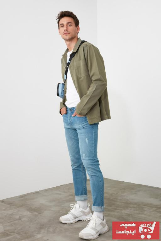 فروشگاه شلوار جین اورجینال مارک ترندیول مرد رنگ آبی کد ty35101997