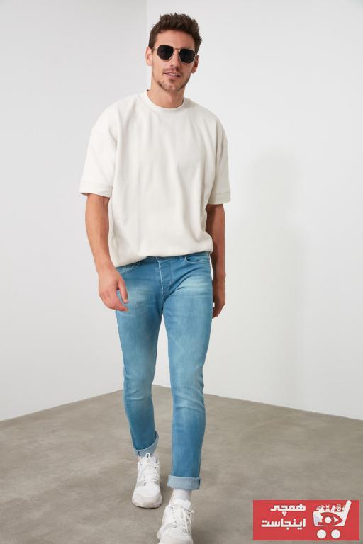 شلوار جین خفن برند ترندیول مرد رنگ آبی کد ty35102004