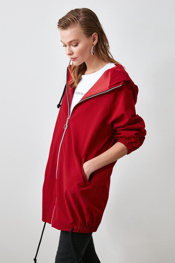 فروش کاپشن زنانه 2020 برند ترندیول میلا رنگ قرمز ty35103169