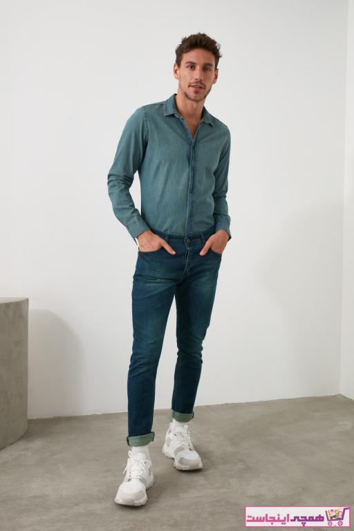 شلوار جین مردانه حراجی برند ترندیول مرد رنگ لاجوردی کد ty35187855