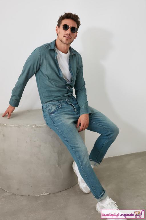 خرید نقدی شلوار جین پاییزی مردانه مارک ترندیول مرد رنگ آبی کد ty35187978