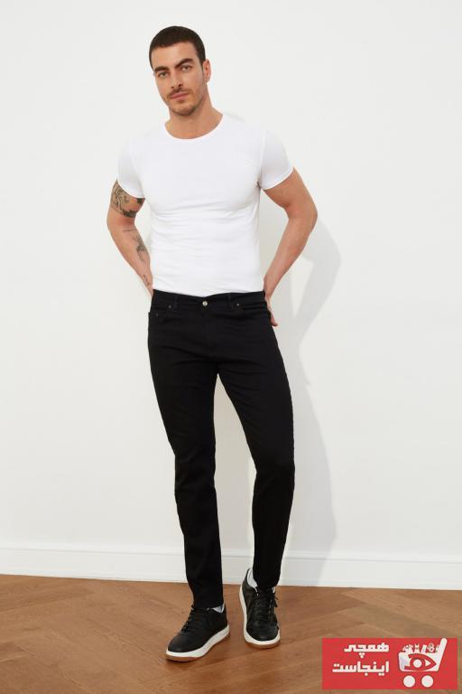 شلوار جین شیک مردانه برند ترندیول مرد رنگ مشکی کد ty35209606