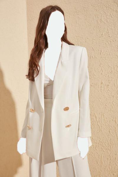 خرید اینترنتی ژاکت بلند مارک ترندیول میلا رنگ بژ کد ty35247618