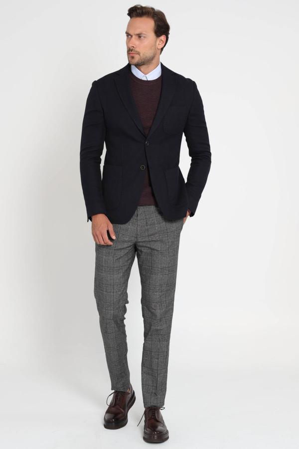 ژاکت شیک مردانه Lufian رنگ لاجوردی کد ty3530668