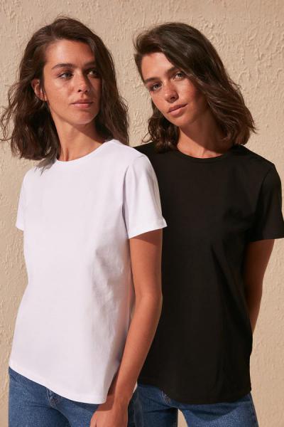 خرید اینترنتی تیشرت شلوار زنانه مارک ترندیول میلا رنگ مشکی کد ty35472186