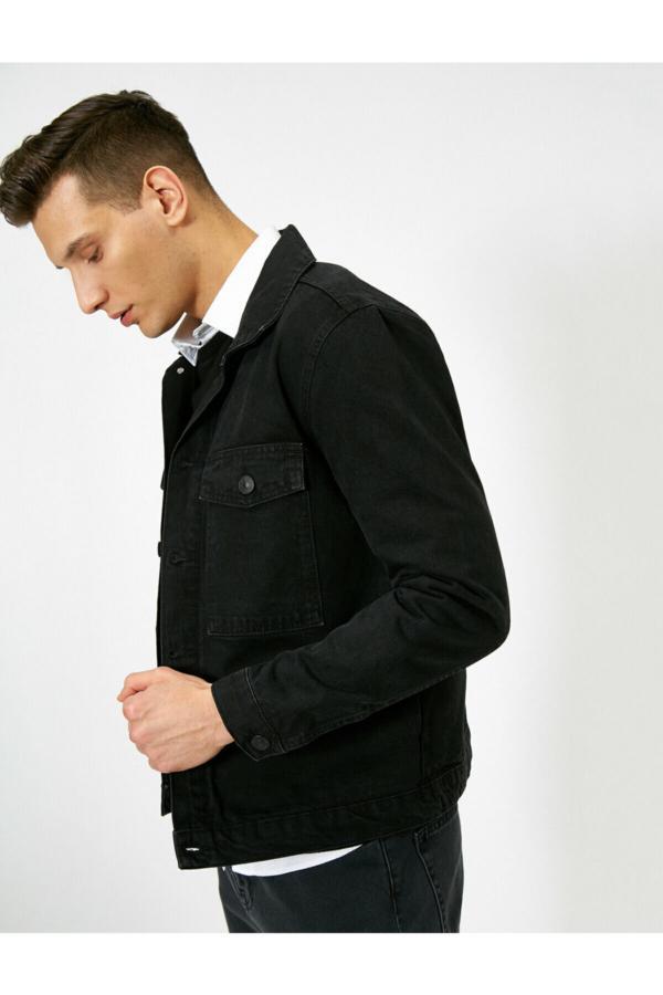 ژاکت مردانه مدل دار برند کوتون رنگ مشکی کد ty35650585