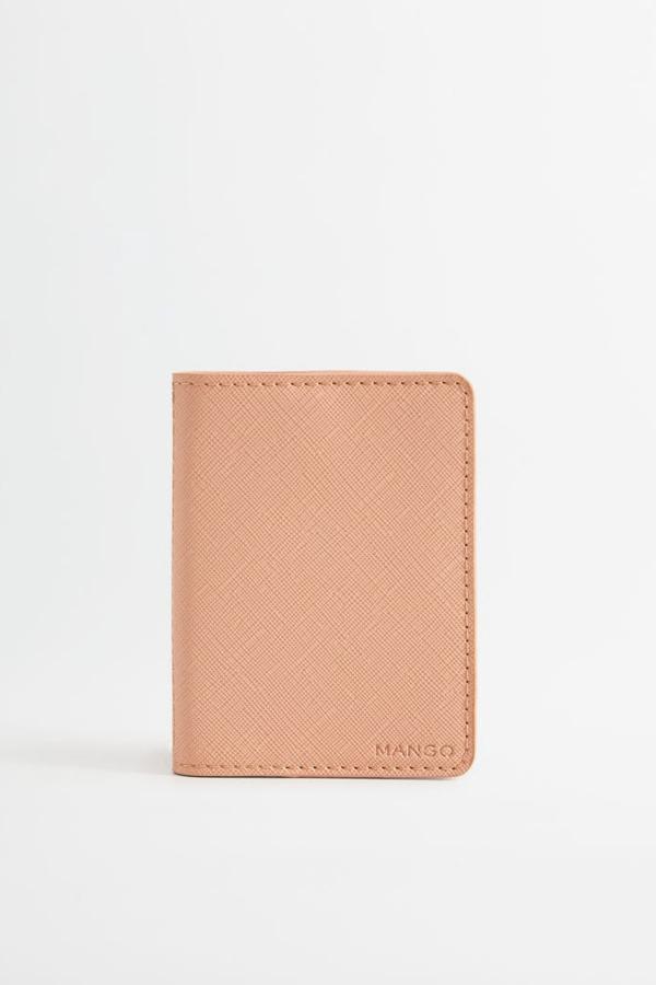 خرید پستی کیف کارت بانکی اصل برند MANGO Woman منگو رنگ صورتی ty35690894