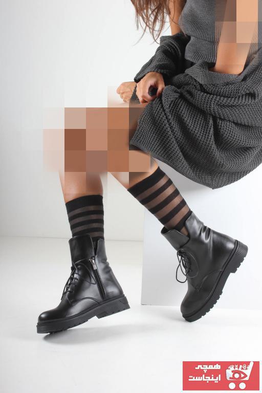 نیم بوت زنانه ترک مجلسی برند İnan Ayakkabı رنگ مشکی کد ty3583239