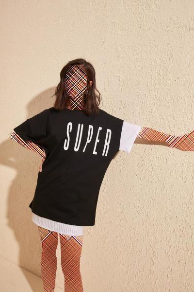 خرید مدل تیشرت زنانه برند TRENDYOLMİLLA رنگ مشکی کد ty36254864