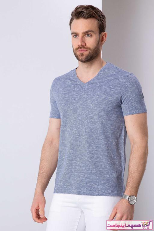 تی شرت مردانه خاص مارک پیرکاردین رنگ لاجوردی کد ty36313795