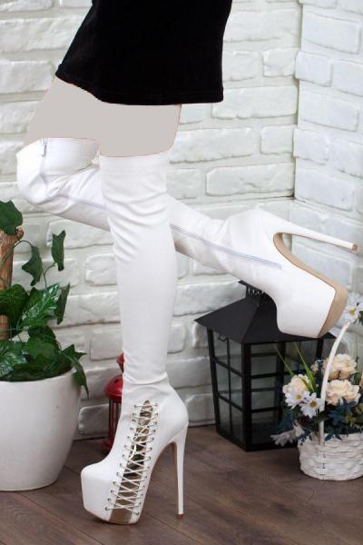 چکمه زنانه مدل برند Adım Adım رنگ سفید ty36506452