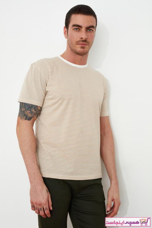 خرید انلاین تی شرت مردانه طرح دار مارک ترندیول مرد رنگ قهوه ای کد ty36544474