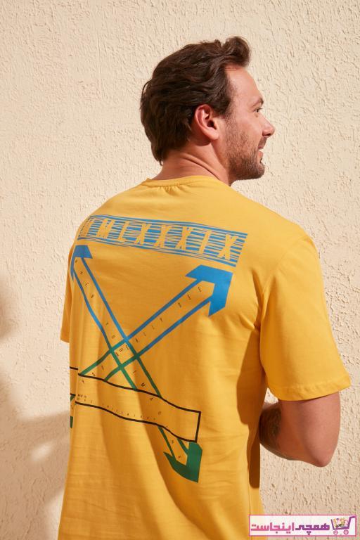 خرید نقدی تیشرت مردانه  برند ترندیول مرد رنگ زرد ty36551790