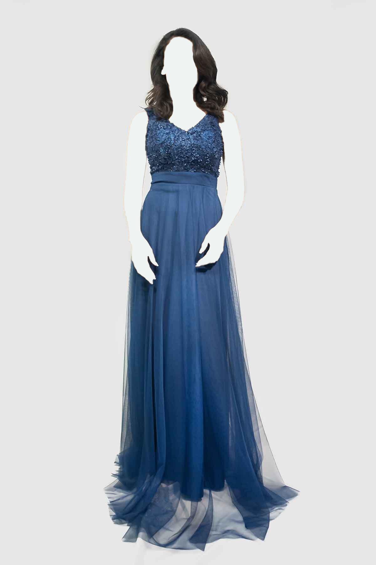 لباس مجلسی زنانه مارک دار برند LOVE IS EVERYWHERE رنگ لاجوردی کد ty36557877