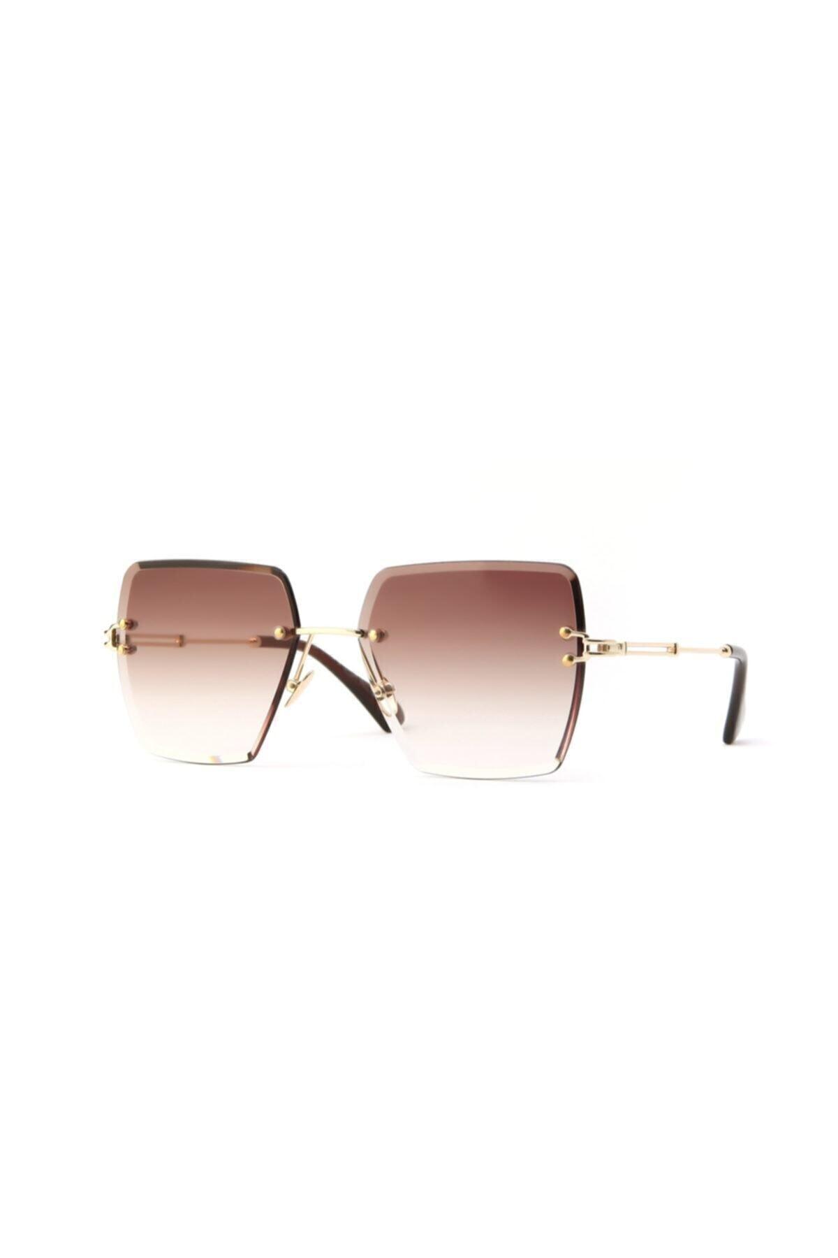 عینک آفتابی زنانه ترک مجلسی برند Tan Gözlük رنگ قهوه ای کد ty36697618