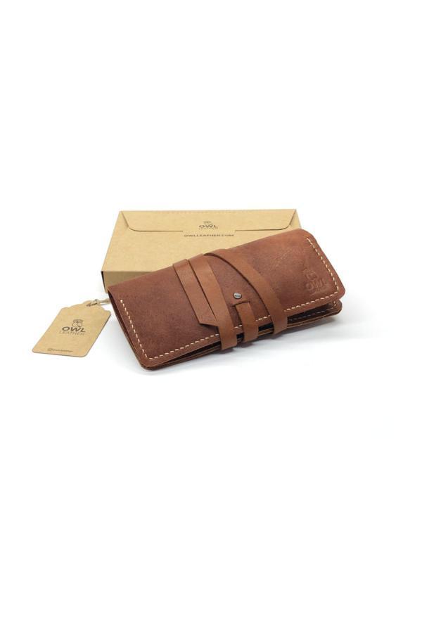 خرید کیف دستی 2020 زنانه برند OWL LEATHER رنگ قهوه ای کد ty36804229