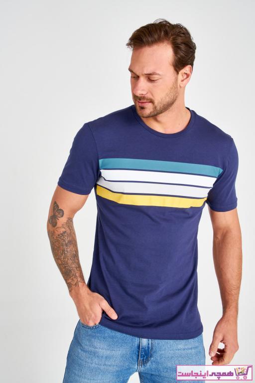 تی شرت مردانه شیک و جدید برند ترندیول مرد رنگ لاجوردی کد ty36854840