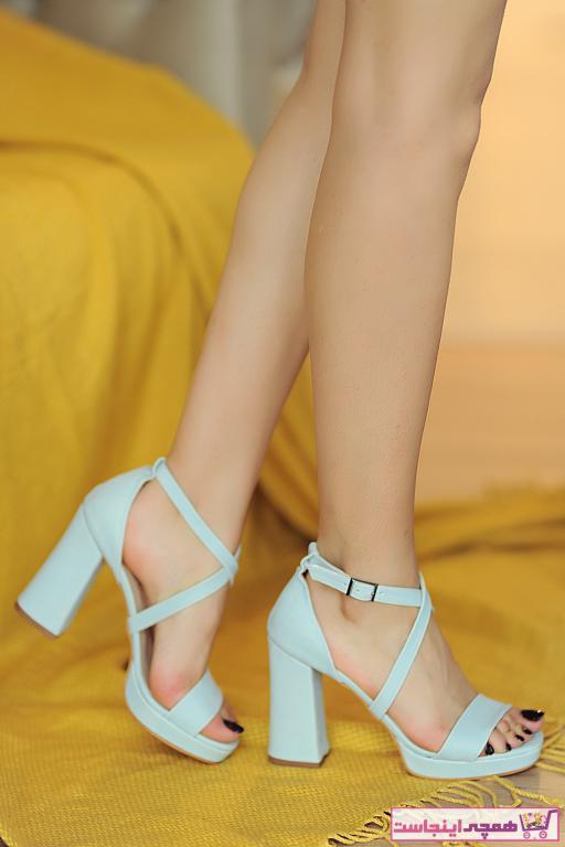 خرید پستی پاشنه دار زنانه برند Pembe Potin رنگ آبی کد ty36919580