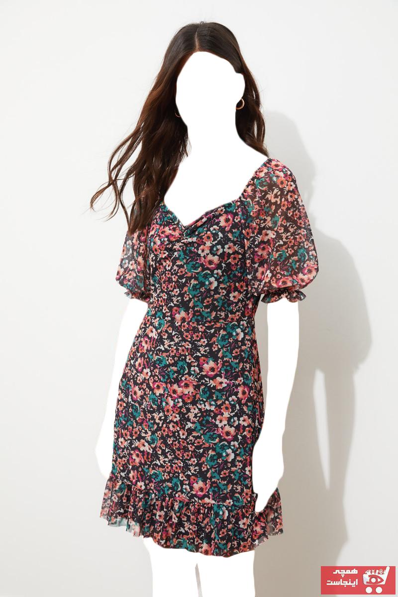خرید انلاین پیراهن زنانه ترکیه برند ترندیول میلا ترک رنگ مشکی کد ty36972100