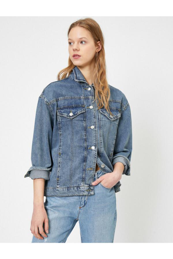خرید اینترنتی ژاکت بلند برند کوتون رنگ آبی کد ty36974779