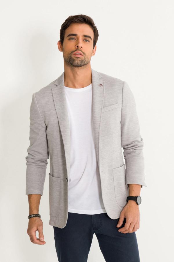 قیمت ژاکت مردانه برند آوا رنگ نقره ای کد ty37111077