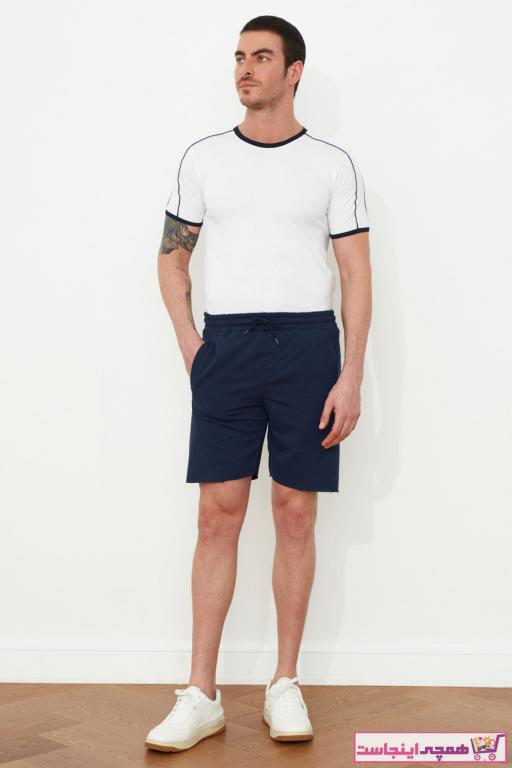 خرید اینترنتی شلوارک مردانه مارک ترندیول مرد رنگ لاجوردی کد ty37213962