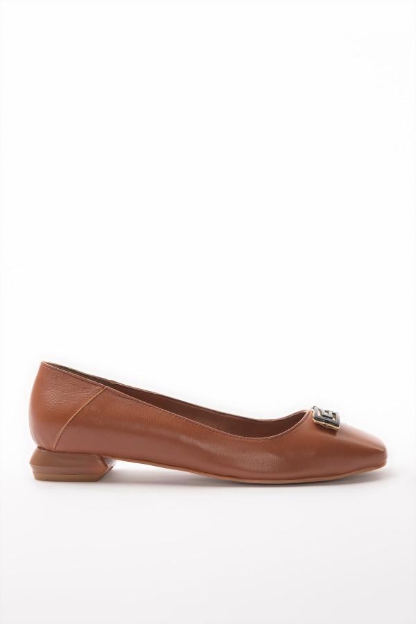 کفش تخت  برند ترندیول میلا رنگ قهوه ای کد ty37356862
