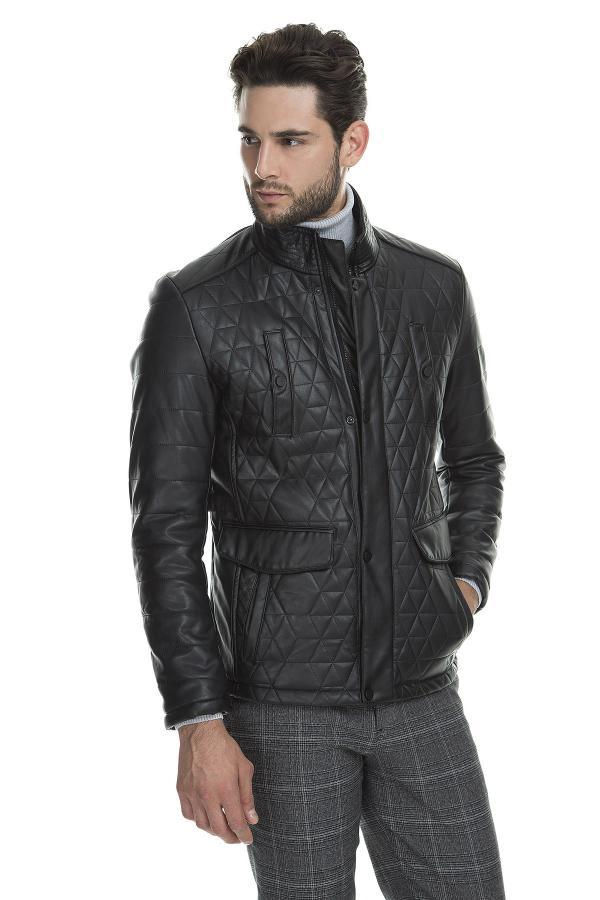 ژاکت چرم مدل 2020 برند پیرکاردین رنگ مشکی کد ty3759544