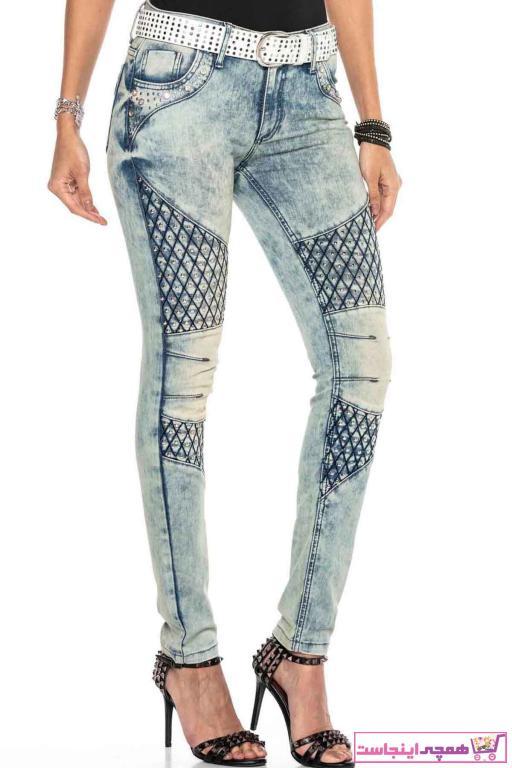 شلوار جین زنانه مجلسی برند Cipo&Baxx رنگ آبی کد ty37597438