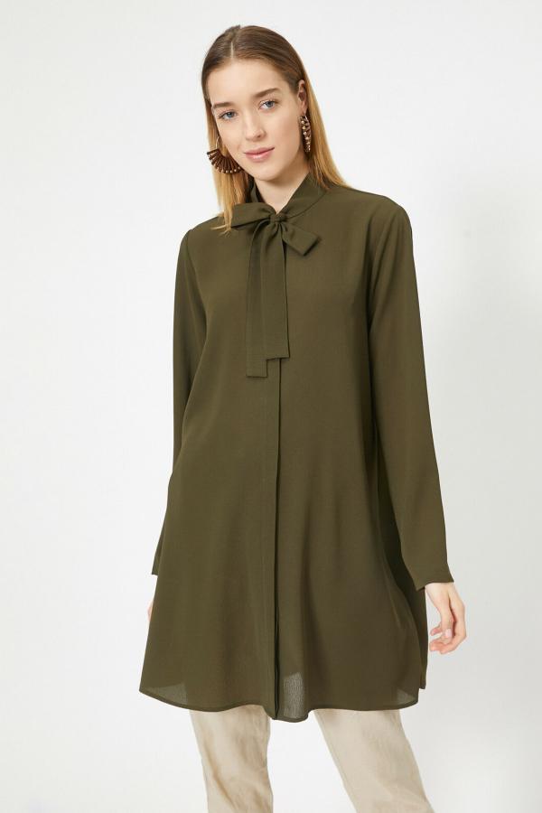 فروش تونیک زنانه شیک و جدید برند کوتون رنگ خاکی کد ty37618799