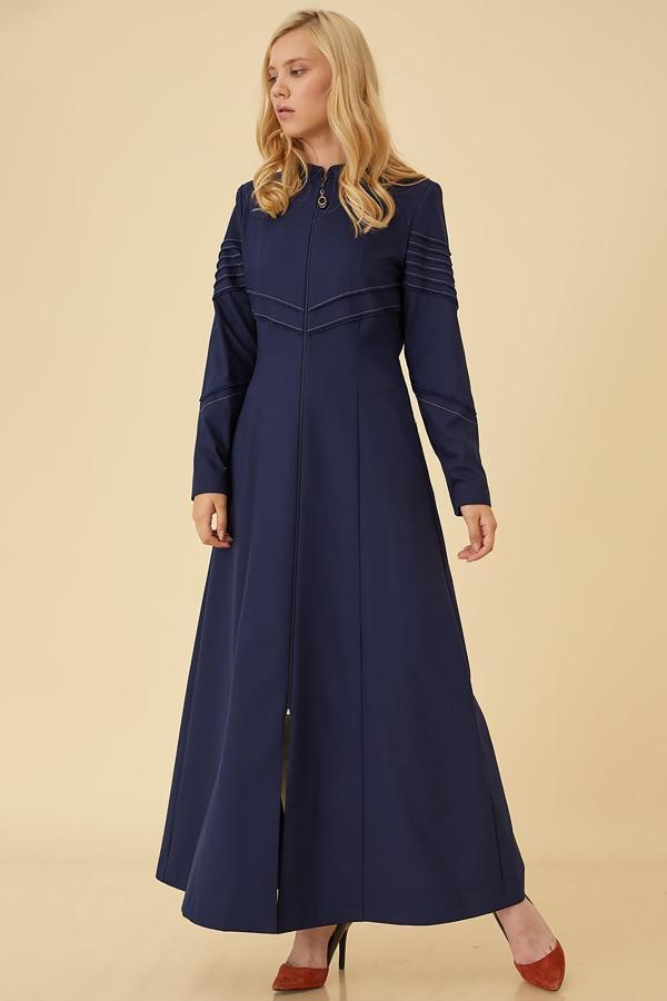 سفارش مانتو زمستانی زنانه برند Kayra رنگ لاجوردی کد ty38022236
