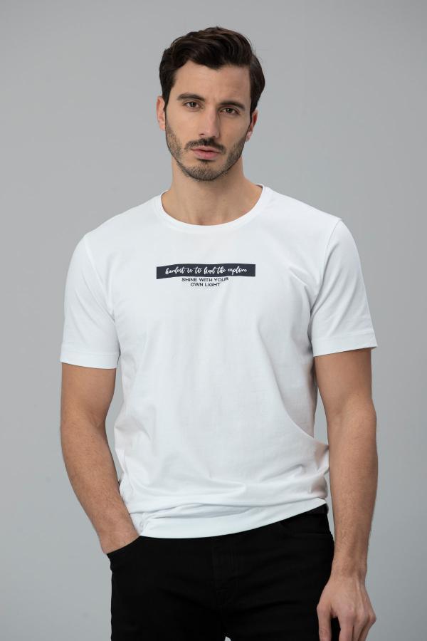 تی شرت مردانه پارچه نخی برند Lufian کد ty38131819