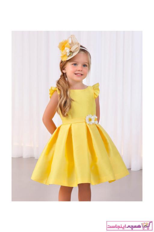 فروش انلاین پیراهن دخترانه مجلسی برند Abel & Lula رنگ زرد ty38485306