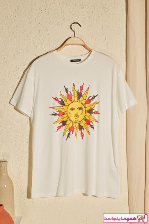 فروش تی شرت جدید برند ترندیول میلا ترک رنگ بژ کد ty38557363