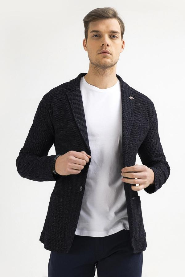 ژاکت مردانه سال ۹۹ برند آوا رنگ لاجوردی کد ty39471691