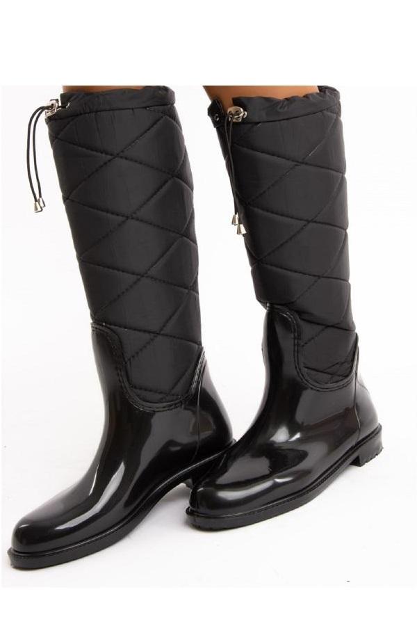 چکمه دخترانه شیک مجلسی برند Fox Shoes رنگ مشکی کد ty3963211