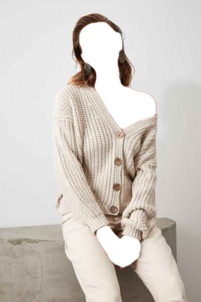 فروش پستی ژاکت بافتی زنانه شیک جدید برند ترندیول میلا رنگ بژ کد ty40065896
