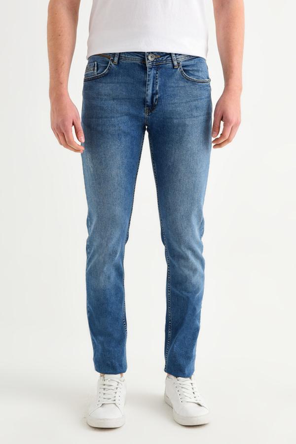 سفارش شلوار جین مردانه ارزان برند آوا رنگ آبی کد ty40438542