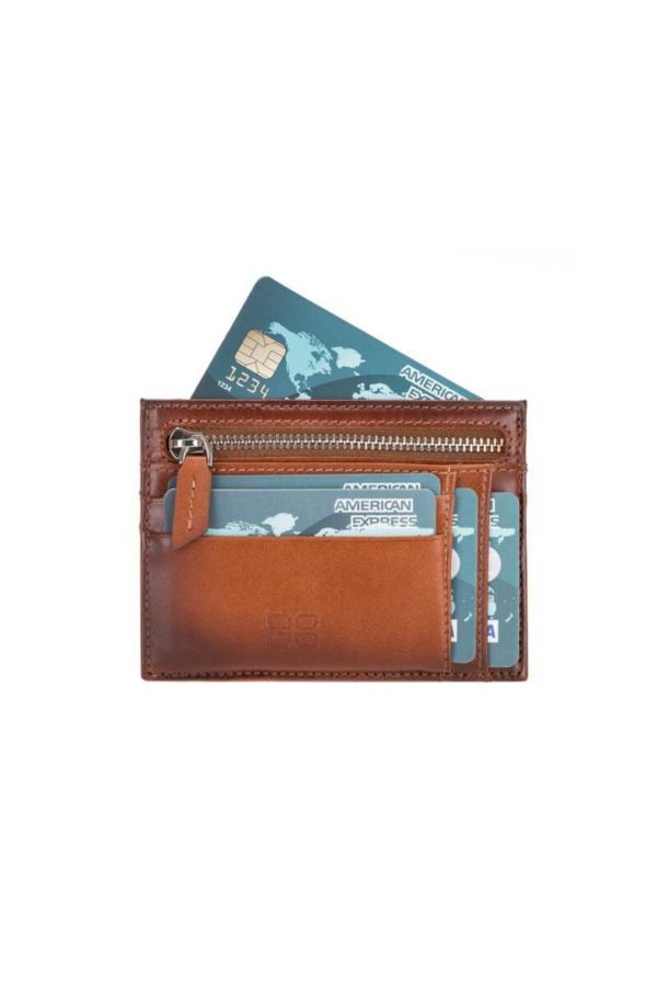 کیف کارت بانکی زنانه اصل و جدید برند Bouletta رنگ قهوه ای کد ty40545376