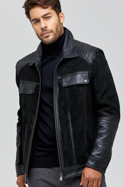 ژاکت چرم مردانه مدل برند Derimod رنگ مشکی کد ty40808296